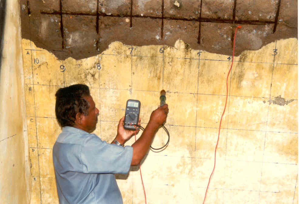 Field testing for Assessment of Corrosion in Reinforced Concrete Structures