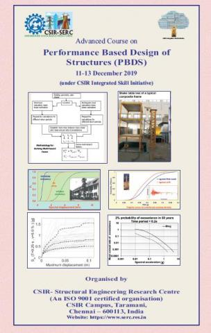 Advanced course on Performance Based Design of Structures 11-13 December 2019
